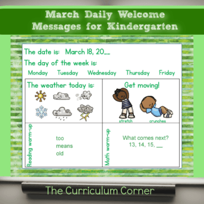 March Daily Welcome Messages