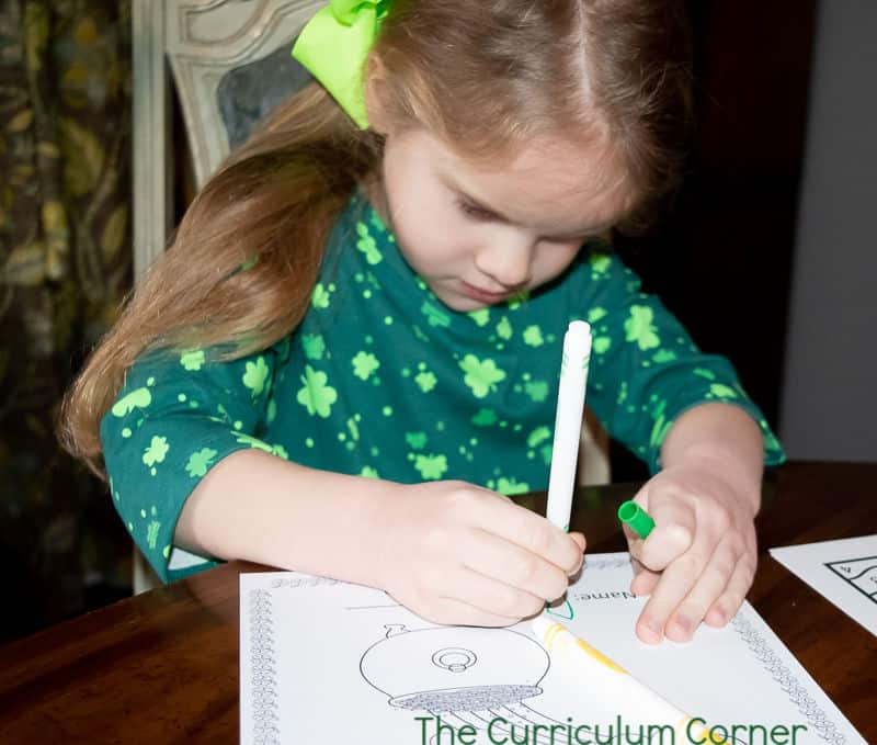 St. Patrick's Day Preschool Pages