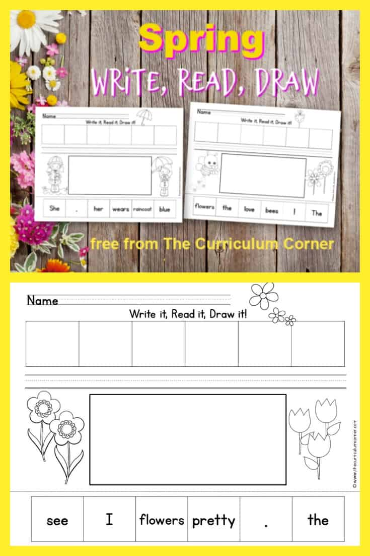 These Read, Write & Draw spring scrambled sentences are designed to fit into your springtime curriculum for early readers.