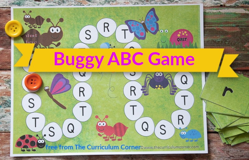 Bugs Alphabet Game free from The Curriculum Corner