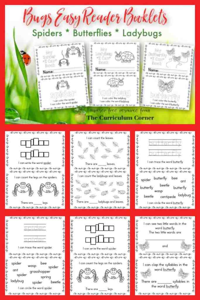 Free Bugs Easy Reader Booklets