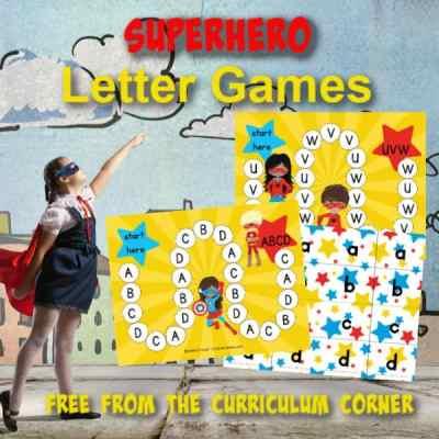 This superhero ABC game will be a fun addition to your early learning centers (another free resource for teachers from The Curriculum Corner.)