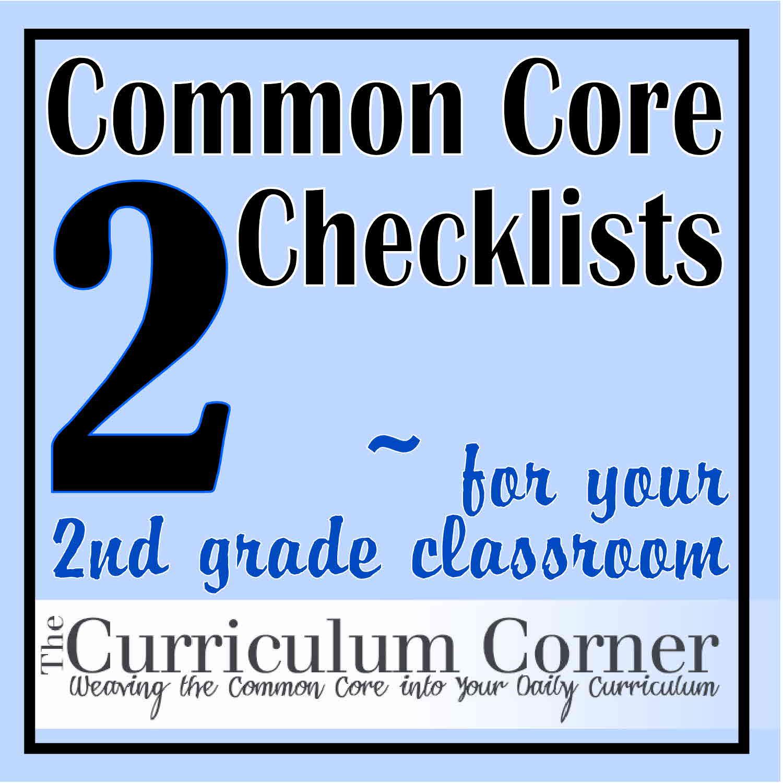 Common Core Checklists - The Curriculum Corner 123