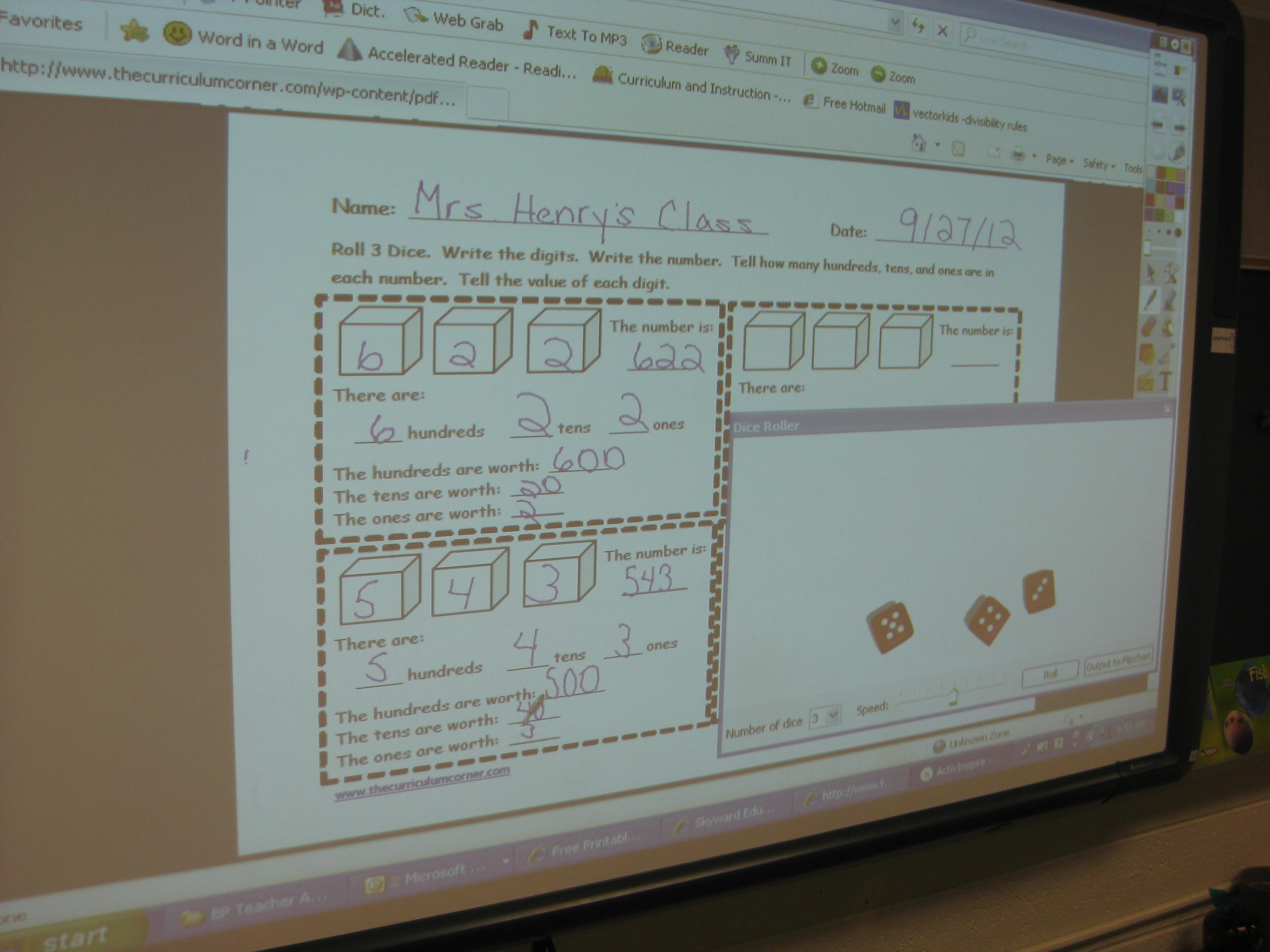 Counting Tens And Ones Worksheet