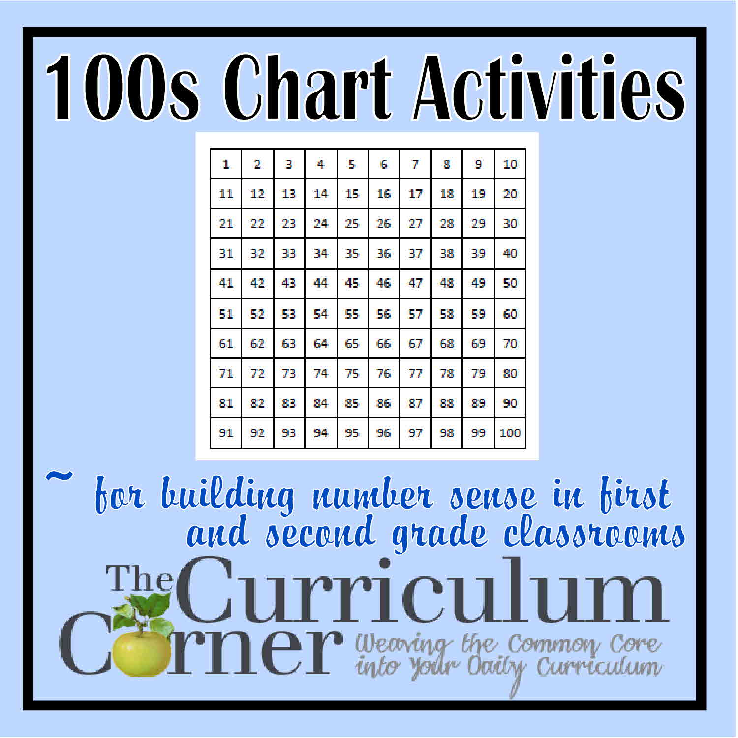 100s Chart Activities The Curriculum Corner 123