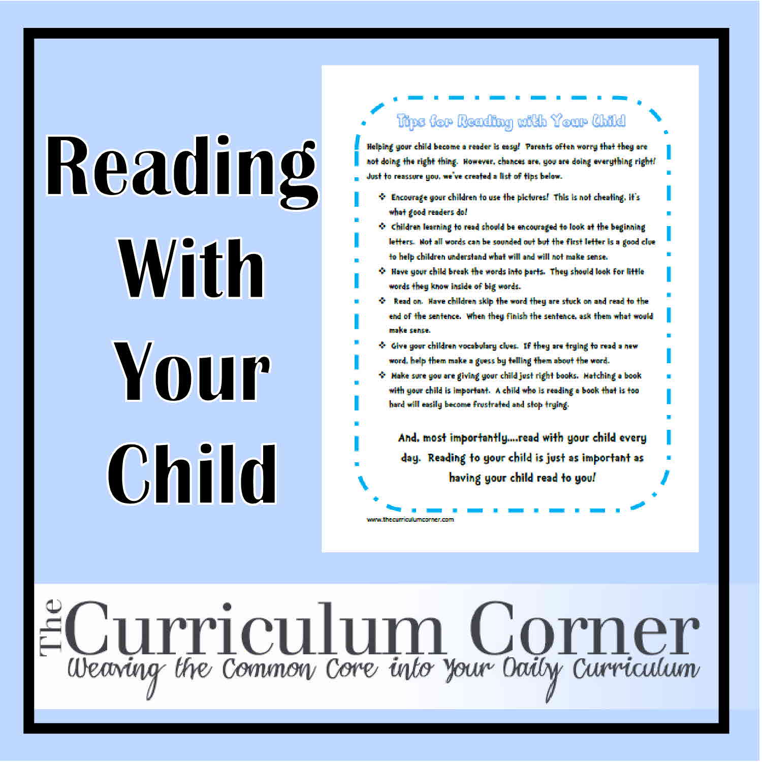 Printable Reading Tips Parents