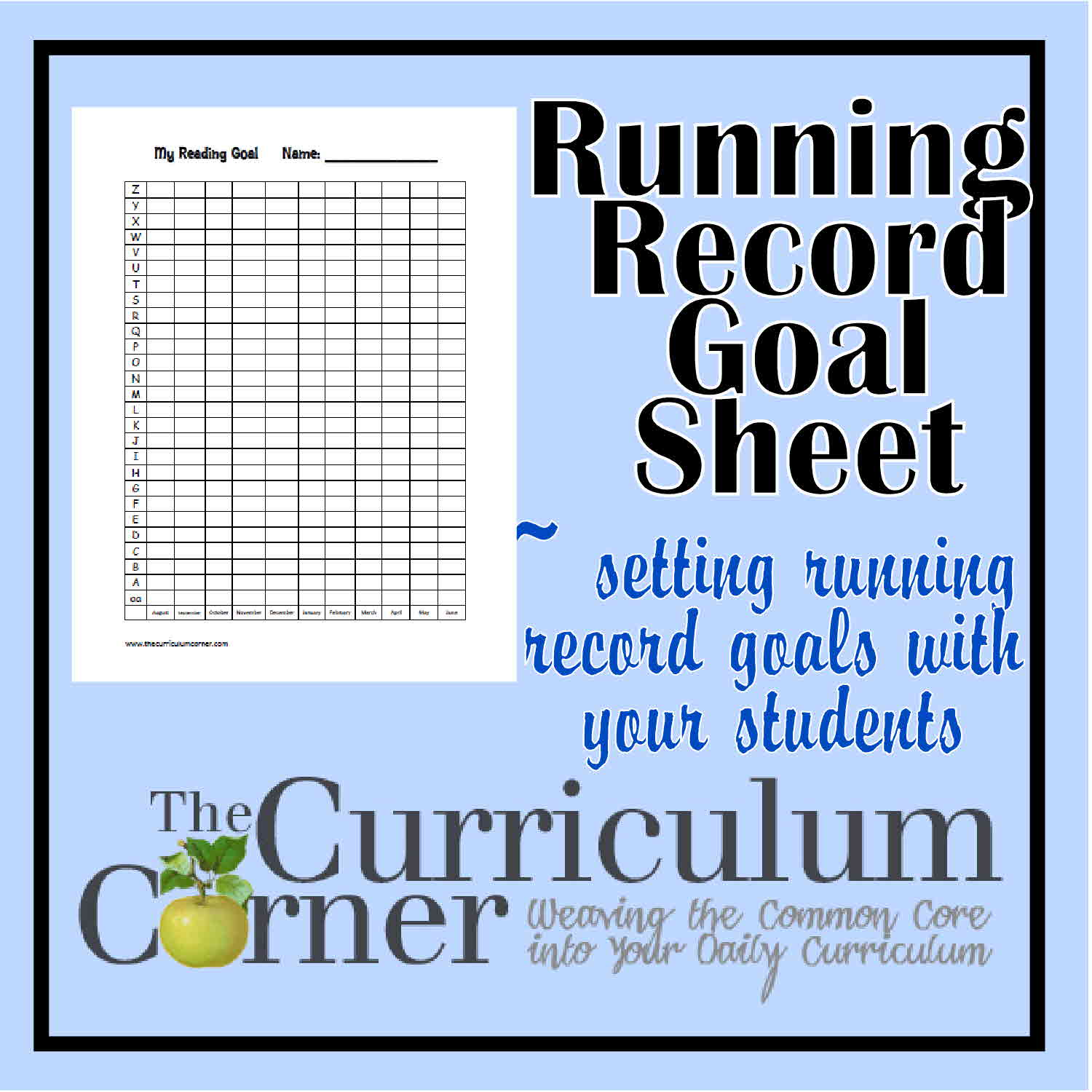 Running Record Goal Setting Sheet