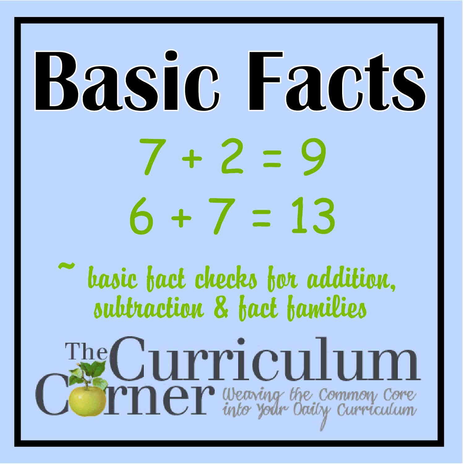 Basic Facts Practice - The Curriculum Corner 123