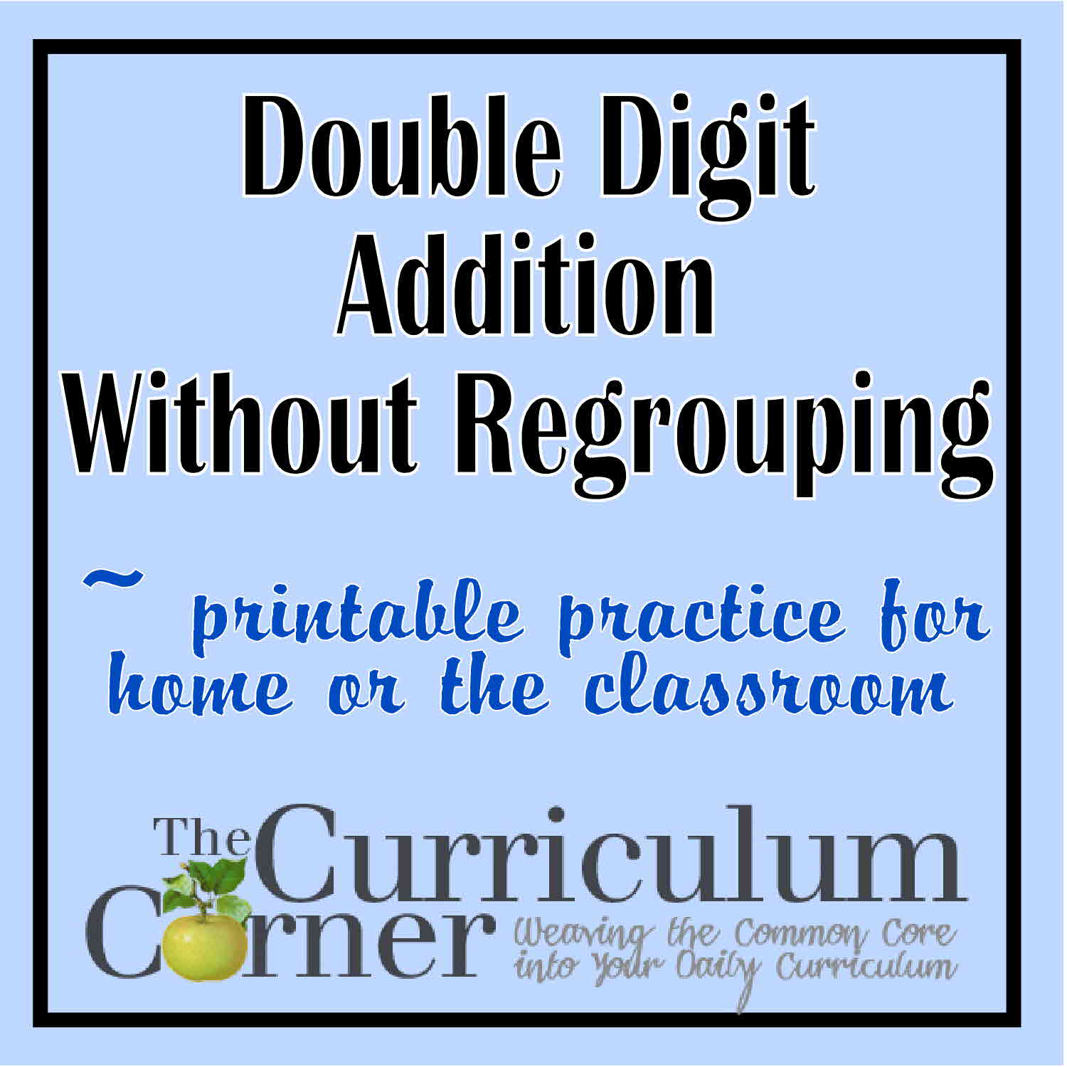 Double Digit Addition W O Regrouping