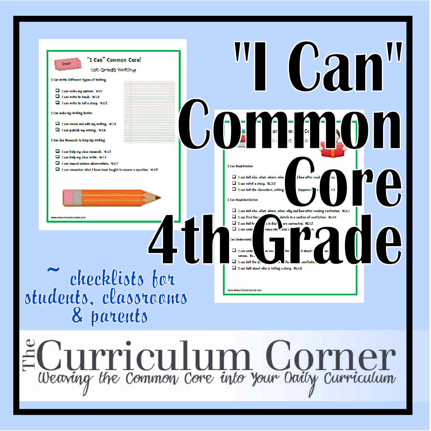 I Can Common Core Fourth Grade
