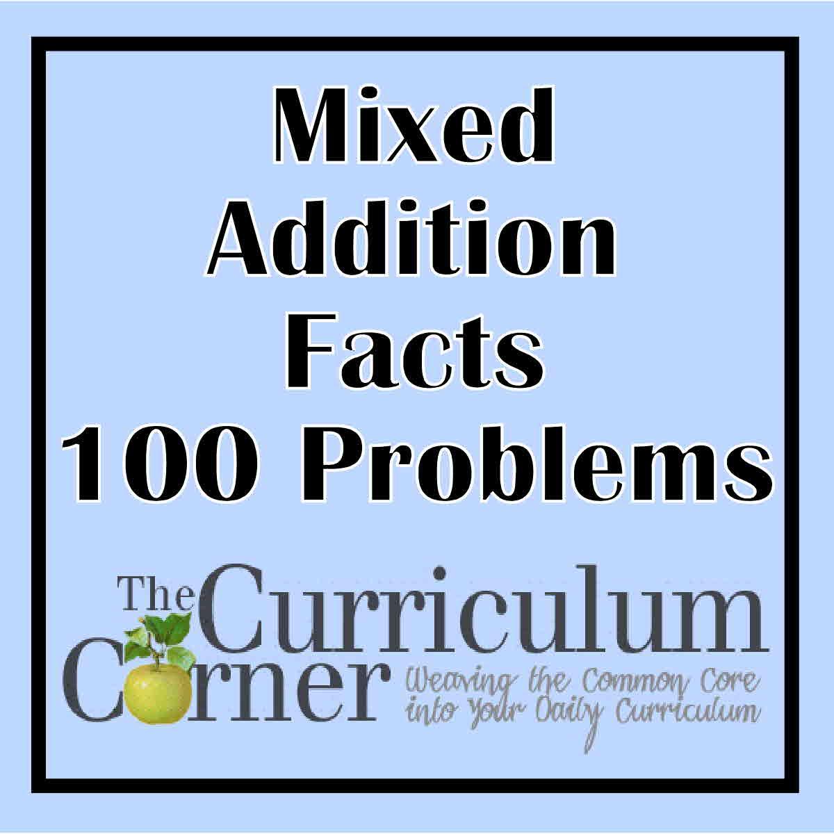 Mixed Add The Curriculum Corner 123