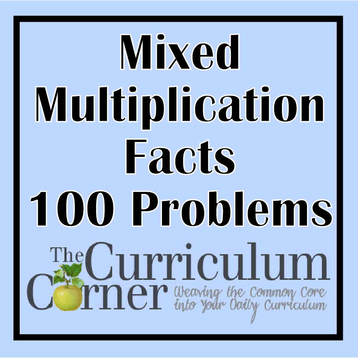 Workbooks multiplication fact fluency worksheets : Multiplication Timed Tests - The Curriculum Corner 123