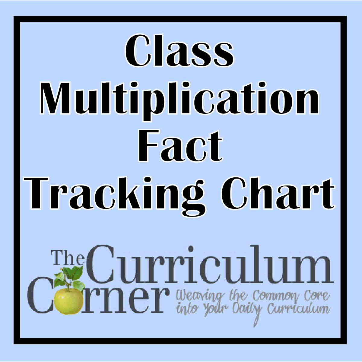 Class Multiplication Facts Tracking Chart The Curriculum Corner 123