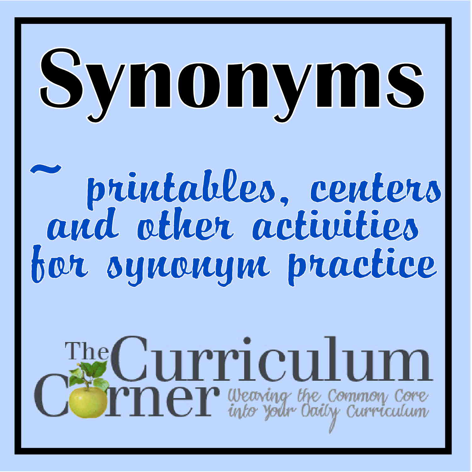 Worksheet Synonym For Giving In synonyms the curriculum corner 123 synonyms