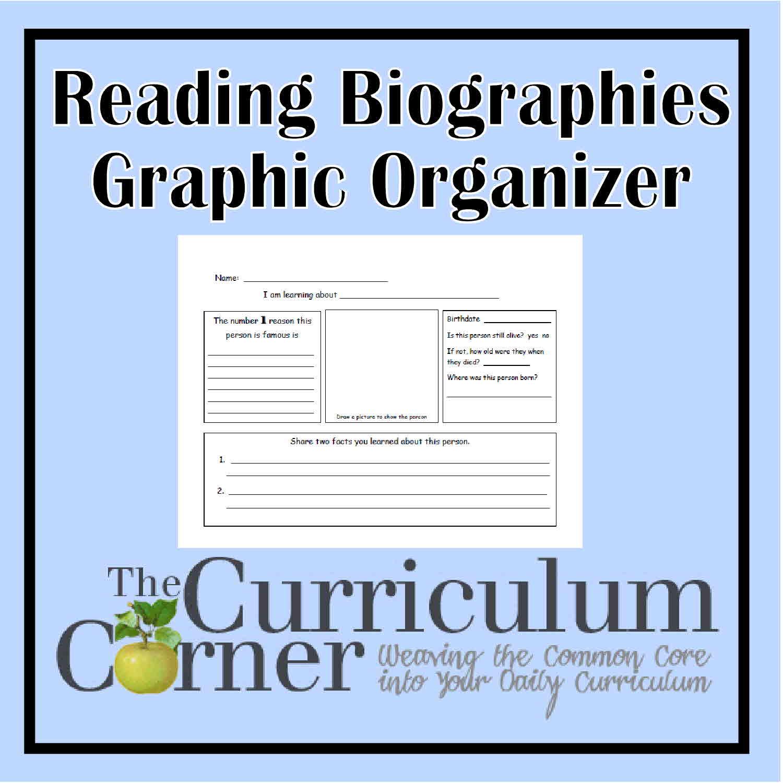 biography graphic organiser