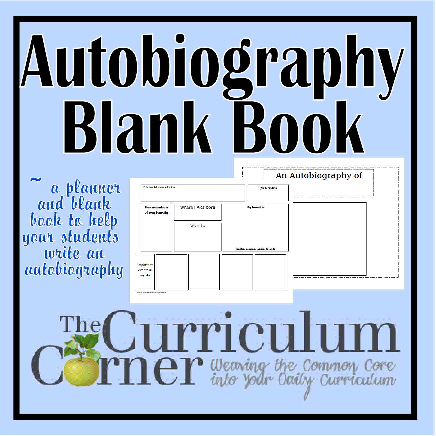 Autobiography Blank Booklet Amp Planner