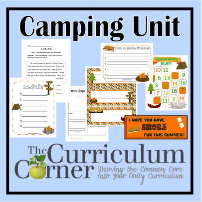 Camping in the Classroom FREE activities from The Curriculum Corner