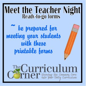 Meet the Teacher Night Printables