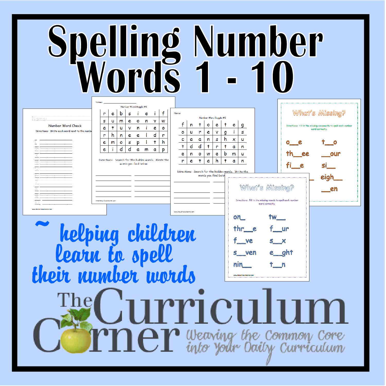 Spelling Number Words 1