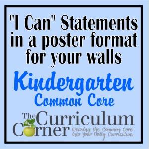 I Can Kindergarten Posters