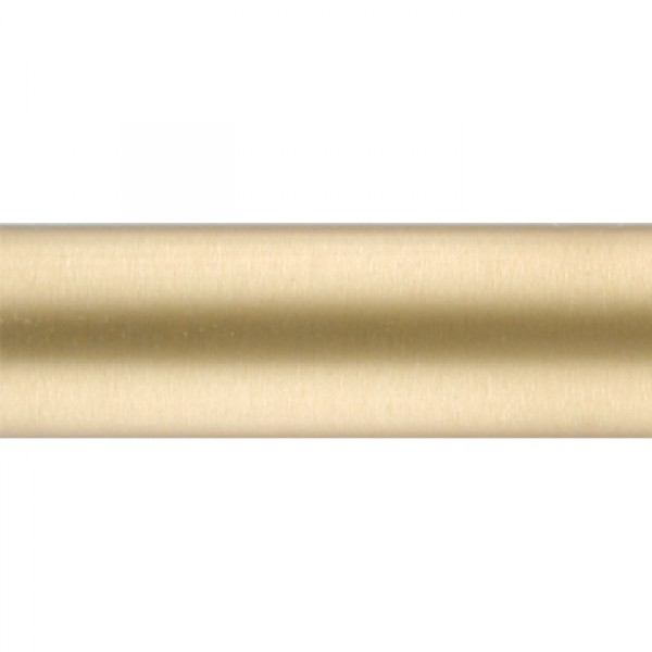brushed brass curtain rod tubing 1 1 8 diameter by the foot