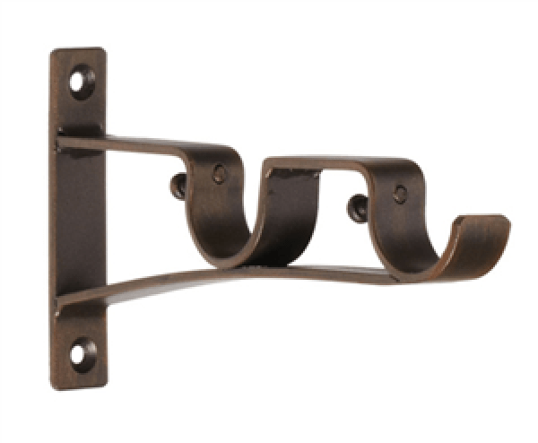 laurence double curtain rod bracket for 1 drapery rods each