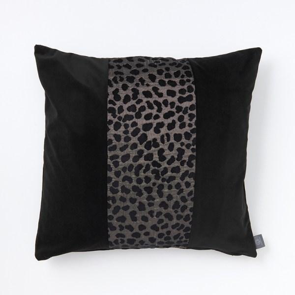 black-grey-animal-print-3-panel-cushion