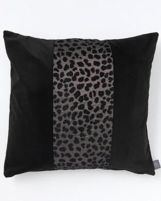 Animal Print Panel Grey And Black Cushion