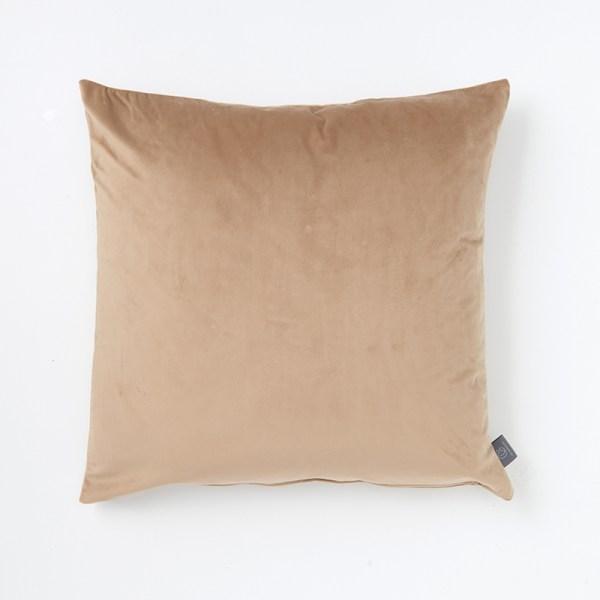camel-faux-velvet-cushion