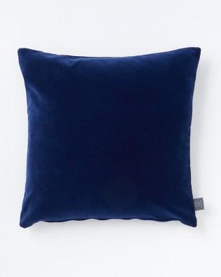 Ink Blue Blue Velvet Cushion