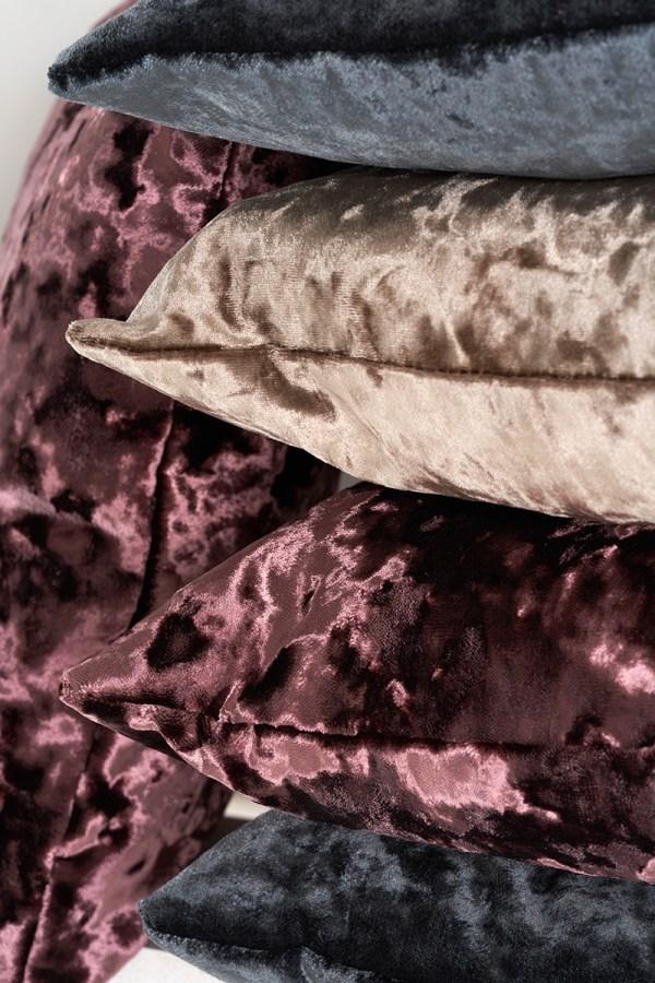close-up-faux-velvet-plush-stack-cushions-the-cushion-cafe-berkshire