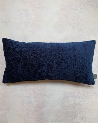 Navy Embossed Pattern Lumbar Cushion