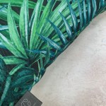 Palm Green and Blue Outdoor Cushion