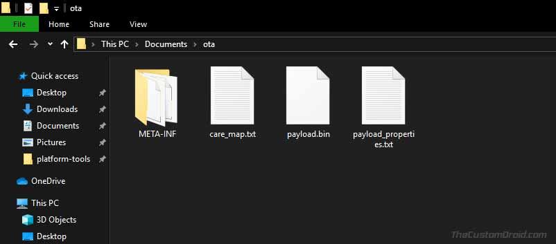 Файл Payload.bin в OTA-пакете Android