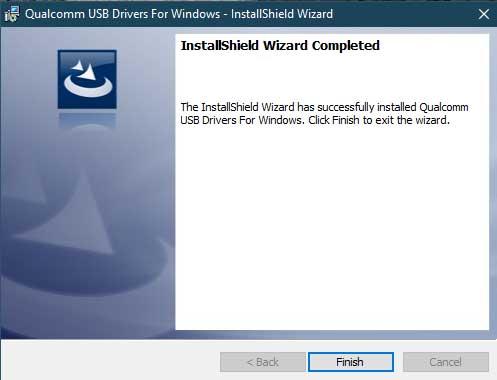 Установите драйверы Qualcomm HS-USB QDLoader 9008 - прямой метод - установка завершена