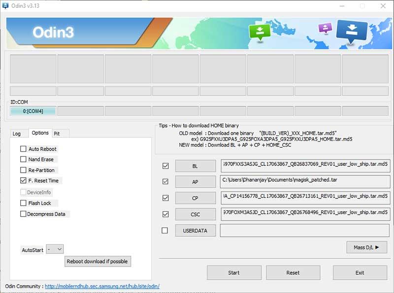 Прошивка файла прошивки AP для рутирования Samsung Galaxy Note 10/10 +