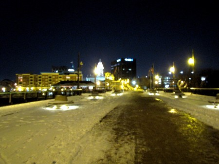 Pedestrian bridge in West Lafayette/Lafayette, Indiana