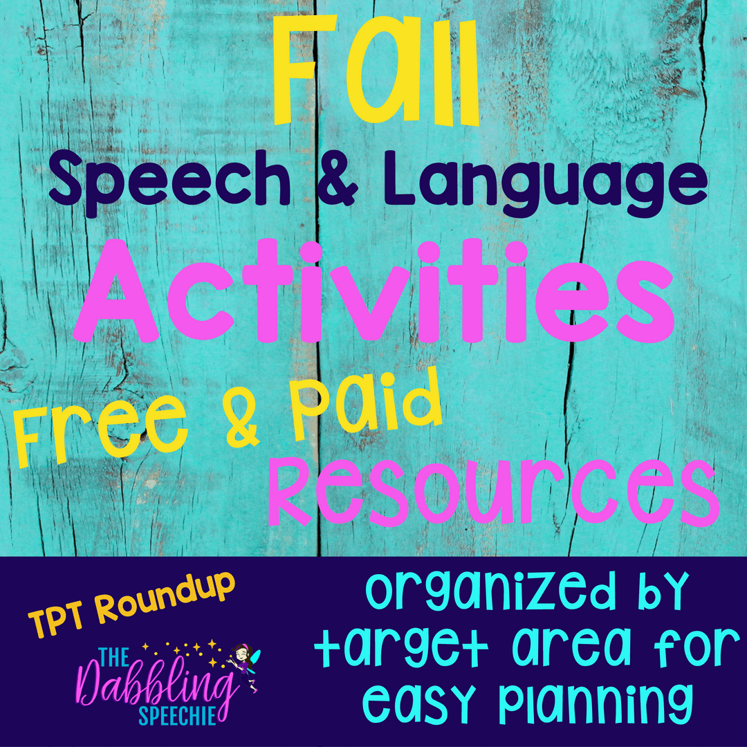 Fall Speech And Language Activities Tpt Round Up