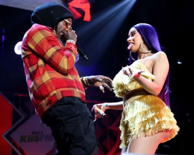 Offset Tattoos Cardi B Name On His Neck After He Was: Cardi B Tattoos Offset's Name On Her Leg