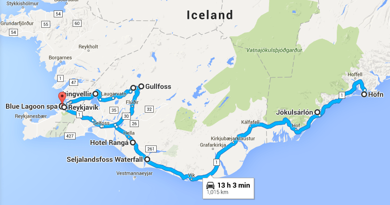 4-Day Southern Iceland itinerary