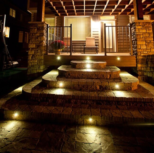 Outdoors Stair Lights. Staircase Lighting Ideas Uk