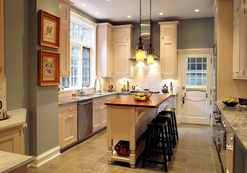 Small Kitchen Island Granite Top