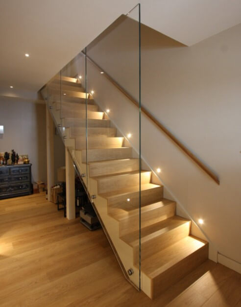 Lighting Basement Washroom Stairs: 17 TOP Stairway Lighting Ideas, Spectacular With Modern