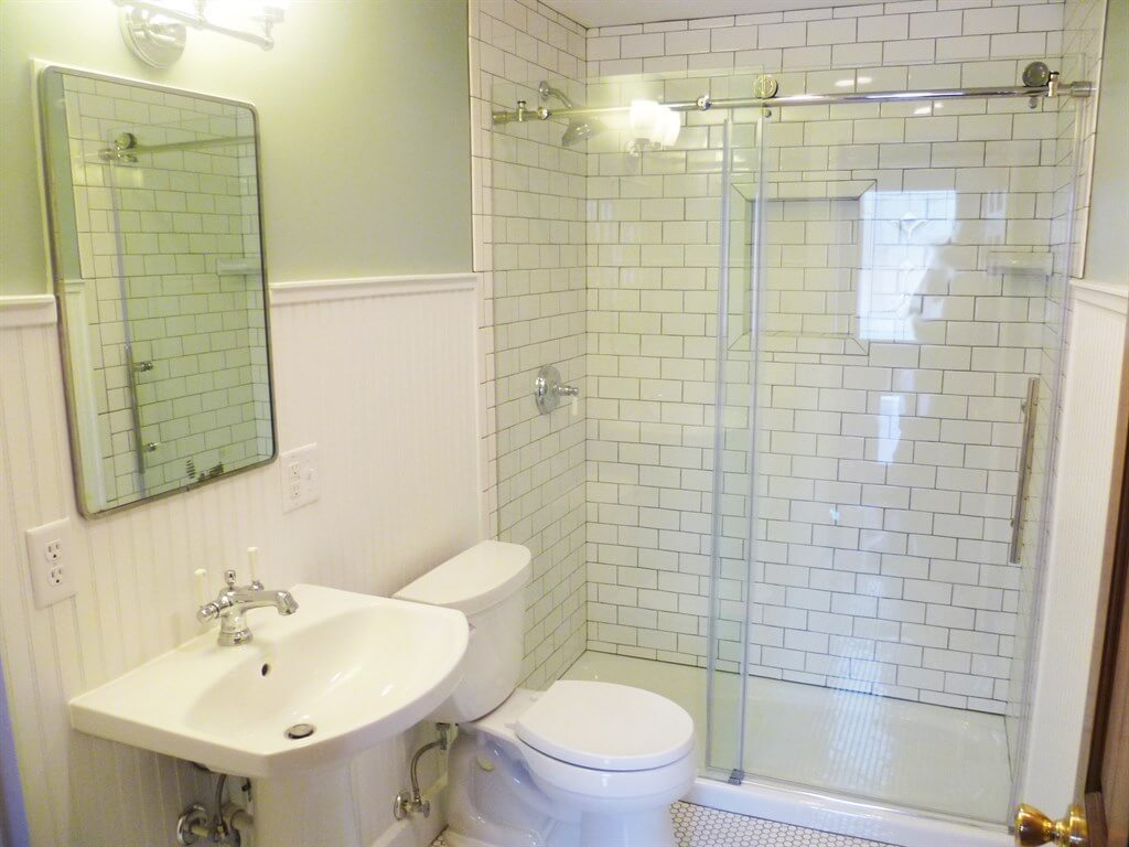 Covering Bathroom Tiles With Wainscoting
