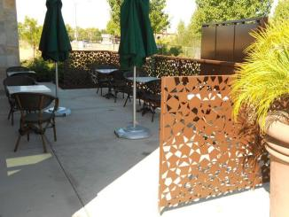 Modern Fence Ideas with Geometric Accents