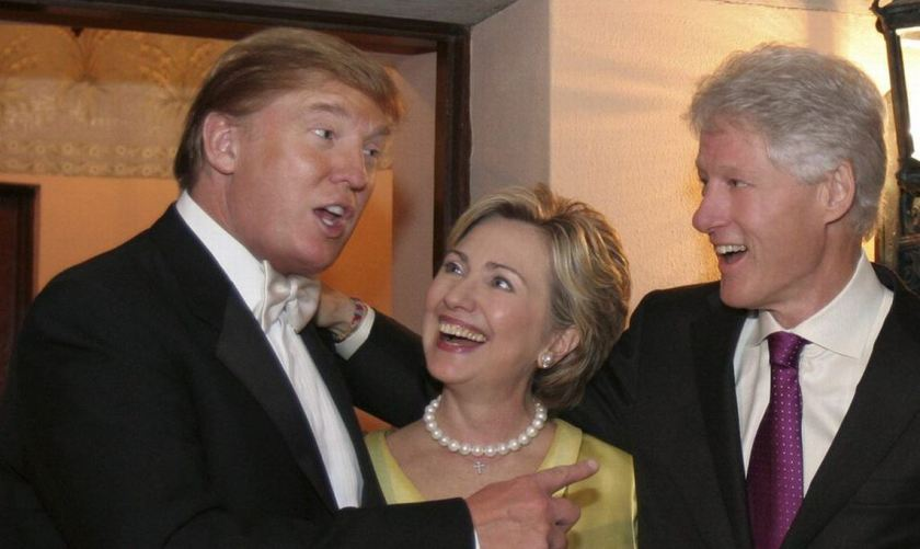 Trump with the Clintons