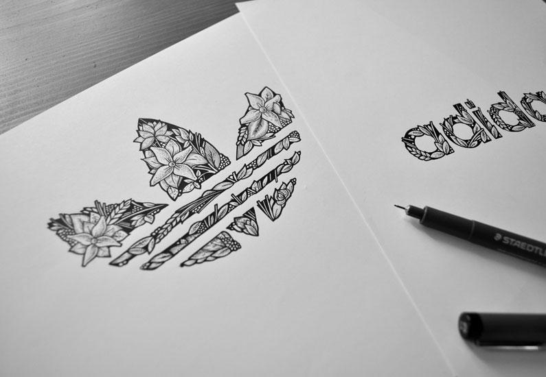 Adidas trefoil by Jeremy Schiavo