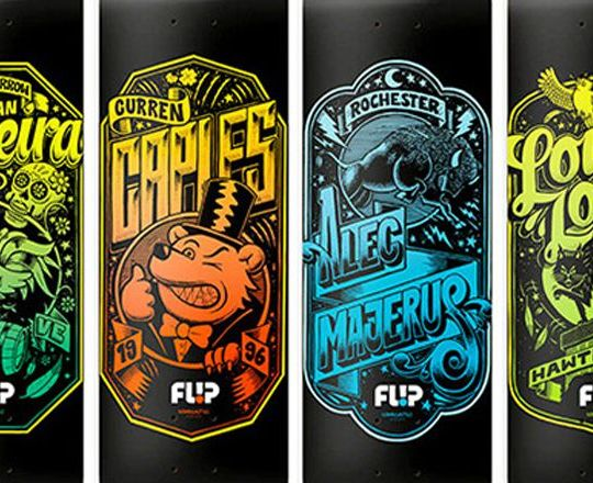 Iconoclastic series by Flip Skateboards x Martin Ander
