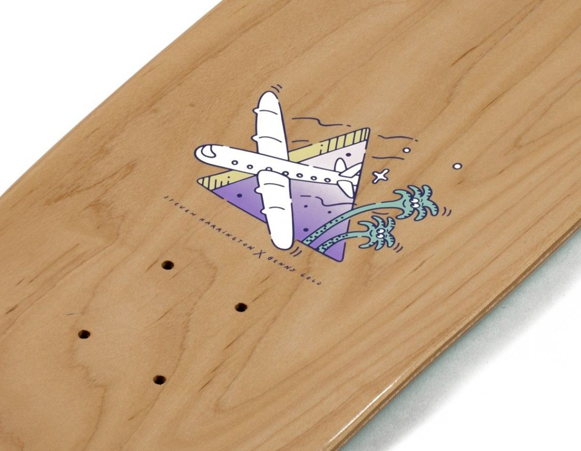 Benny Gold x Harrington skateboard