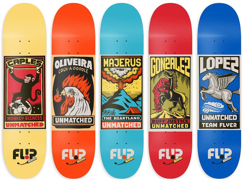 Flip skateboards unmatched series by Mander